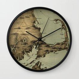 Map of Nantucket Boston 1885 Wall Clock