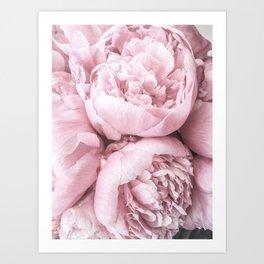 Lush Peony Flower Art Print