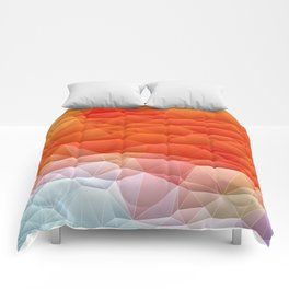 Quilted Pattern Orange Texture Abstract Comforters