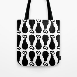 Drumstick Pattern Black and White Tote Bag