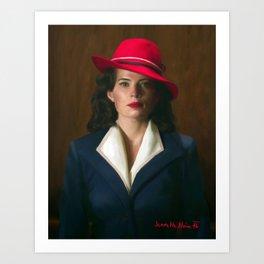 Peggy Carter Art Print