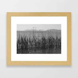 Quiet lake Framed Art Print