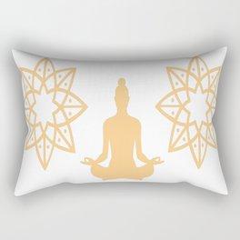Yoga Inhale the good shit Rectangular Pillow