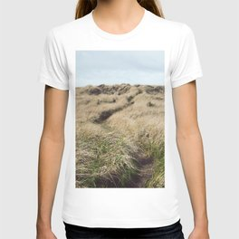 Oregon Dune Grass Adventure - Nature Photography T-shirt