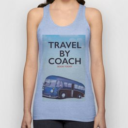 Travel By Coach Unisex Tank Top