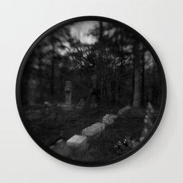 Dark Cemetery Wall Clock
