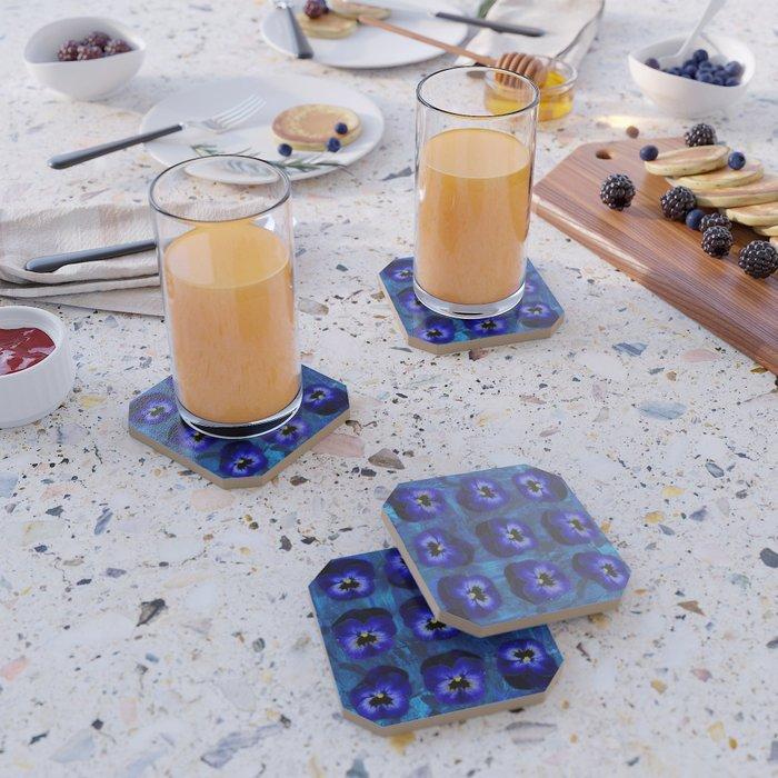 Deep Blue Velvet Coaster