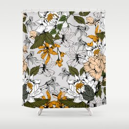 Blooming in autumn II Shower Curtain