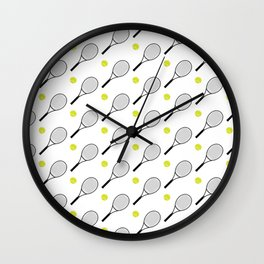 Tennis Pattern 1 Wall Clock