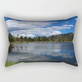 Sprague Lake Reflection Rectangular Pillow