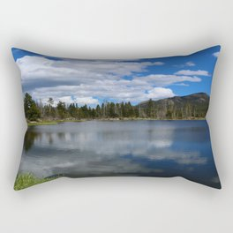 Sprague Lake Reflection Rectangular Pillow
