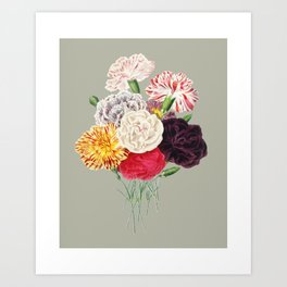 Colorful Flower Bouquet Art Print