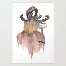 Beware of Graboids! Art Print