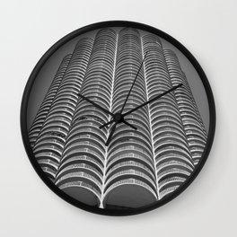 Marina City Tower Photo, Chicago, Architecture Wall Clock