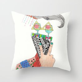 sensitive to the letter K Throw Pillow