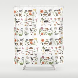 Common place miracles -Natural History Part 1 Shower Curtain