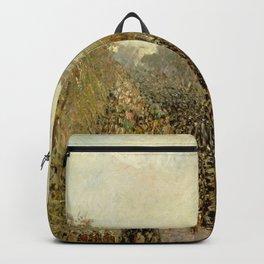 "Camille Pissarro ""Boulevard Montmartre - Mardi Gras"" Backpack"