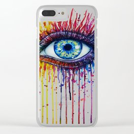 Colorful Eye Clear iPhone Case