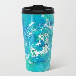 Watercolor Blue Abstract Travel Mug