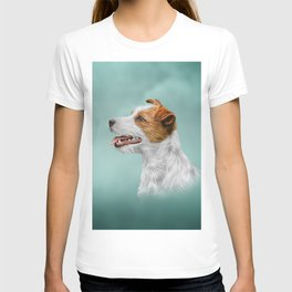 Jack Russell Terrier. Drawing T-shirt