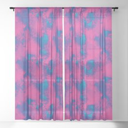 Cotton Candy Clouds Sheer Curtain