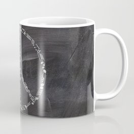 Music peace on chalkboard Coffee Mug
