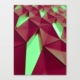 Dark Red & Kryptonite by Brian Vegas Canvas Print