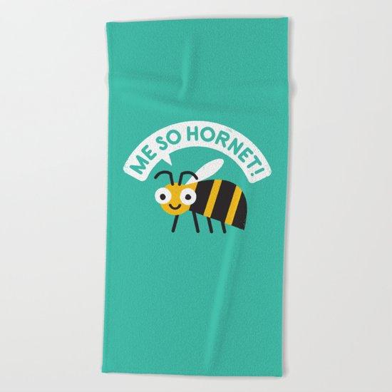 Full Metal Yellow Jacket Beach Towel