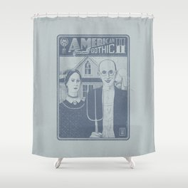 American Gothic II Shower Curtain