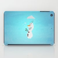 olaf iPad Cases featuring Olaf (Frozen) by Robert Woods