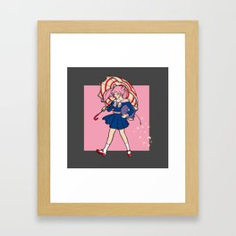 Salty Magical Girl Framed Art Print