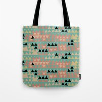 triangles Tote Bags featuring triangles by spinL
