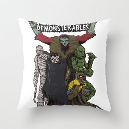 The Demonsterables Throw Pillow