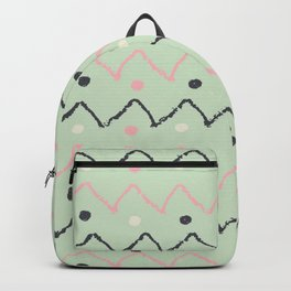 Hand Made Pattern Green & Black Backpack