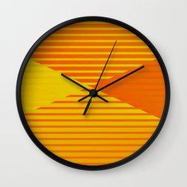 Yellow stripes and balls ... Wall Clock