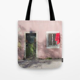 green and red Lisbon Tote Bag