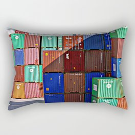 Colorful containers II Rectangular Pillow