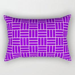 Basketweave (White & Violet Pattern) Rectangular Pillow