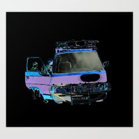 van Art Prints featuring Van by elisecgilbert