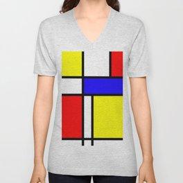 Mondrian 4 #art #mondrian #artprint Unisex V-Neck