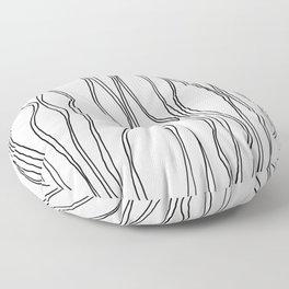 Parallel Lines Floor Pillow