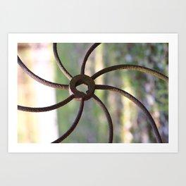 Rustic Pinwheel Art Print