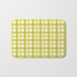 Yellow Picnic Cloth Pattern Bath Mat