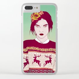 Sweater Weather Lady Clear iPhone Case