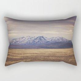 Rustic Mountain Photograph Rectangular Pillow