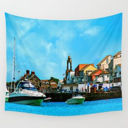 Swanage Sea View Wall Tapestry