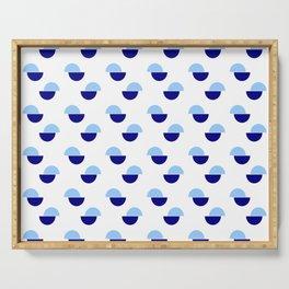 Wild polka dot 1- Blue Serving Tray