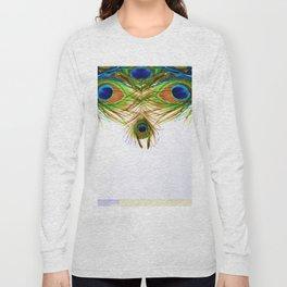 GORGEOUS BLUE-GREEN PEACOCK FEATHERS ART Long Sleeve T-shirt