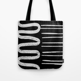 Tribal River and Roads Pattern Tote Bag