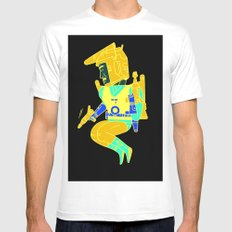Buck Rogers White MEDIUM Mens Fitted Tee